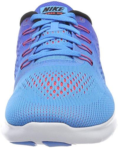 Nike Free Rn, Chaussures de Running Homme, Vert Bleu (Blue Glow/Black/Racer Blue/Bright Crimson/White)