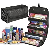 BitFlip™ Roll N Go 4 In 1 Travel Buddy Cosmetic Shaving Toiletry Bag Jewellery Storage Organizer
