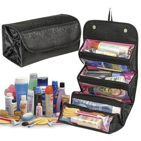 BitFlip™ Roll N Go 4 In 1 Travel Buddy Cosmetic Shaving Toiletry Bag Jewellery Storage Organizer  available at amazon for Rs.279