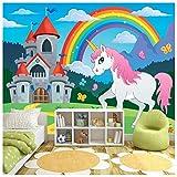 azutura Einhorn Fototapete Regenbogen-Märchen Tapete Mädchen Kinderzimmer Wohnkultur Erhältlich in 8 Größen X-Groß Digital