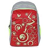 #9: Lutyens Polyester Red Grey School Bag(21Litre)(Lutyens_268)