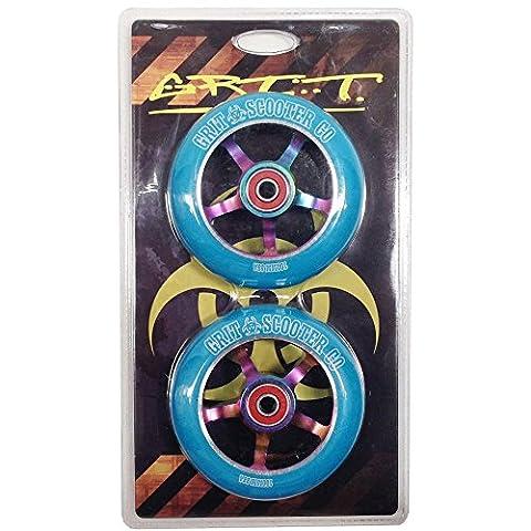 Grit 100mm 5 Spoke ACW Wheels - Twin Pack