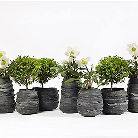 Vase en pneu recyclé, Pot Rubber - grand