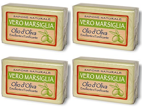 dc72422f00590 Saponeria Nesti Firenze: Set of Four Vero Marsiglia Natural Soap * 5.29  Ounce (150gr) Packages * [ Italian Import ] by Saponeria Nesti Firenze