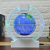 YUN Gift@ 6 Zoll Globus Magnetisch Magnetschwebebahn Floating Globe Neuheit Electronic mit LED-Licht Home Office Display Geschenk Xmas - AC 12V 1000mA,C