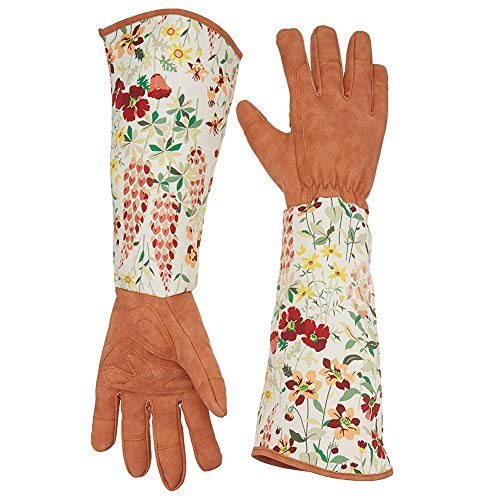 guanti giardino QEES Guanti da giardinaggio in pelle a prova di spine