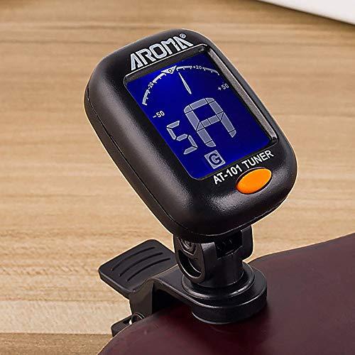 Mini Professional Metronome Digitaler Clip-On-Tuner-Tuner Drehbarer Clip-On-Tuner Das beste Geschenk und Geschenk - Schwarz