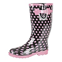 Stormwell Ladies Pink Polka Dot Wellies