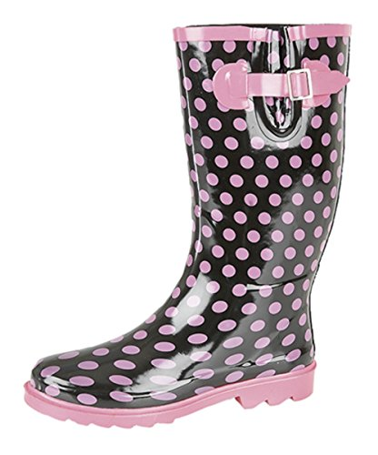 Stormwells Ladies Pink Polka Dot Festival Wellies