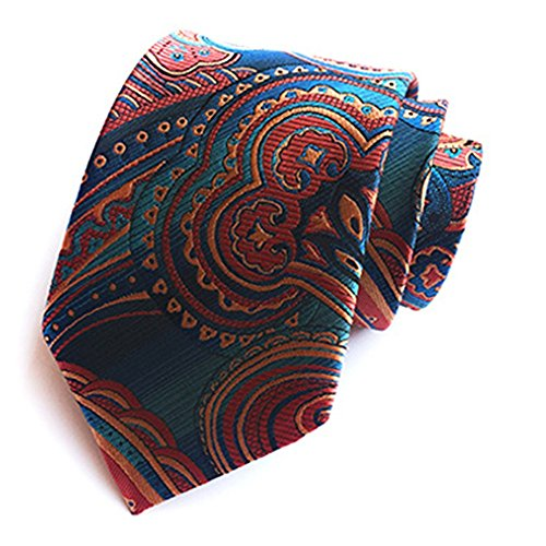 ZSRHH-Neckchiefs Halstücher Der Krawatte-Formale Geschäfts-Pfau-blaues Stickerei-Muster der Männer Krawatten-Bräutigam-Hochzeits-Krawatte der Männer Formale Krawatte