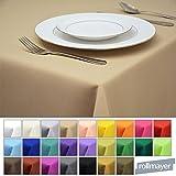 Rollmayer Tischdecke Tischtuch Tischläufer Tischwäsche Gastronomie Kollektion Vivid (Beige 3, 140x200cm) Uni einfarbig pflegeleicht waschbar 40 Farben