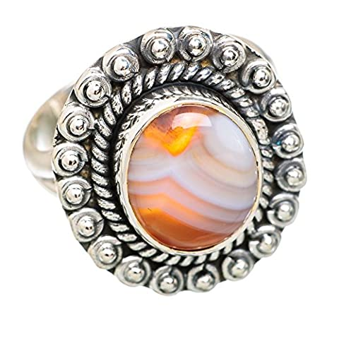 Ocean Jasper, Ozean Jaspis 925 Sterling Silber Ring 8