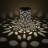 LEDMOMO Retro- LED Solarlichter zylinderförmige Chrysantheme Pin Hängende Solarglühlampe für...