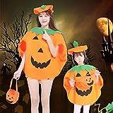Yamyannie Halloween Fancy Dress up Pumpkin Costume 2 in 1 Set per adulti Bambini Bambini Vestiti per feste