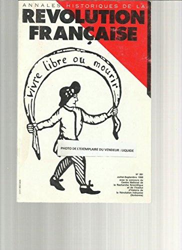 [Annales historiques de la Rvolution franaise] n281- Hommage  Jacques Godechot (1907-1989)