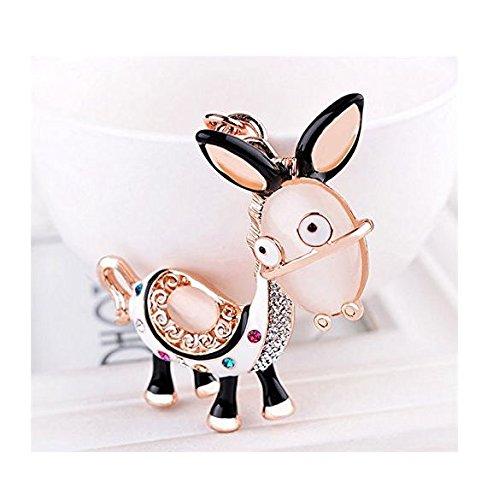 kelaina Cute Strass Esel Charm Anhänger Handtasche Schlüsselanhänger
