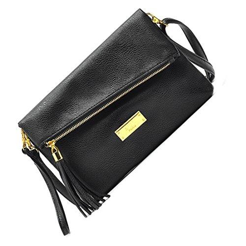 Borse Messenger - MNL Le nuove donne Borse di cuoio Donne Messenger Bag Donne casuali delle borse di spalla delle donne pochette borsa Nero Nero