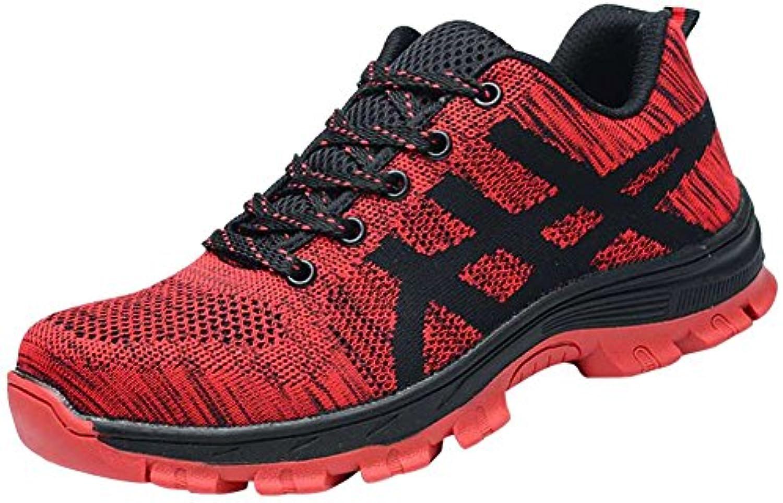 les chaussures de sécurité, les hommes flyknit flyknit flyknit formateurs embout d'acier ultra respirable des chaussures industrielles légers b07g349hb4 parent 6de315