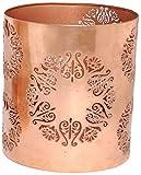Insideretail 200320-3 Kupfer überzogen Design Teelichthalter, 3-er Set, 10 x 10 x 11 cm