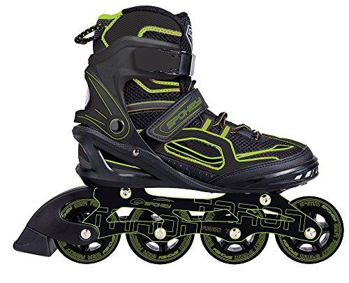 SPOKEY® TARON Inline Skates (Kinder Damen Herren Inline Blades ABEC 7 Karbon Aluminium Größen 37-46), Farben:Grün;Größe/Size:41