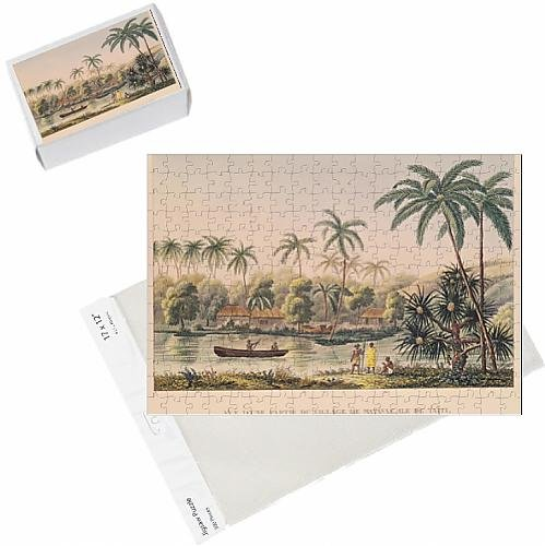 photo-jigsaw-puzzle-of-village-of-matavae-tahiti-illustration-from-voyage-autour-du-monde-sur-la