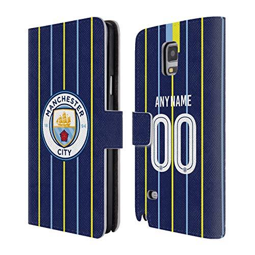 Head Case Designs Personalisierte Individuelle Manchester City Man City FC Away Kit 2018/19 Brieftasche Handyhülle aus Leder für Samsung Galaxy Note 4 -