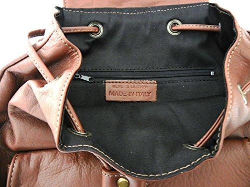 G&G PELLETTERIA , Sac à main porté au dos pour femme marron