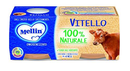 Mellin Omogeneizzato di Vitello 100% Naturale – 24 Vasetti da 80