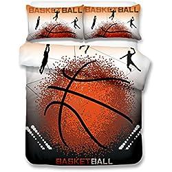 Cool Wave Point baloncesto 3d juego de ropa de cama de funda nórdica realista cama hoja # 2, 100% poliéster, Water butterfly, suelto
