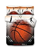 Cool Wave Point Basketball 3D Bettwäsche-Set Print Bettbezug Set lebensecht Bett Blatt # 2, 100 % Polyester, Water butterfly, Einzelbett
