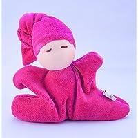 Mini, Puppe, Erstlingspuppe nach Waldorfart in Pink, handgemacht - versandfertig!