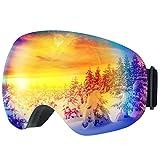 TOPELEK Maschera da Sci, Unisex Snowboard Occhiali da Sci per Sport Invernali, Super-Grandangolo Lente Sferica, con Anti-Fog e Trattamento di Protezione UV400, per Donna e Uomo-Blu