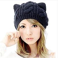Viskey–Berretto da donna, con orecchie di gatto, lavorato a maglia