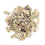 MAXGOODS Set von 150 Handgemachte Tag Label Holzknopf Connector Nähen Scrapbooking Craft Natural