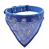 probeninmappx Niedlichen Haustier Hund Katze Schal Kragen Einstellbare Puppy Bandana Bandage Krawatte Kragen Halstuch Halskette, Blau, 47 * 1 cm