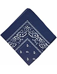 50% Ermäßigung - Bandana Kopftuch Halstuch - gemustert: Paisley Muster - 24 Farben - 100% Baumwolle! von Boolavard