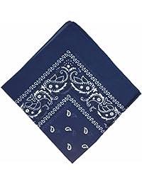 BOOLAVARD 100% Cotton Paisley Bandana Bandanna Headwear Hair Band Scarf  Neck Wrist Wrap Band 4d1ce64d447