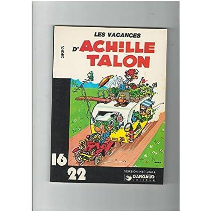 GREG : Les vacances d'Achille Talon. Dargaud 16/22. 1977