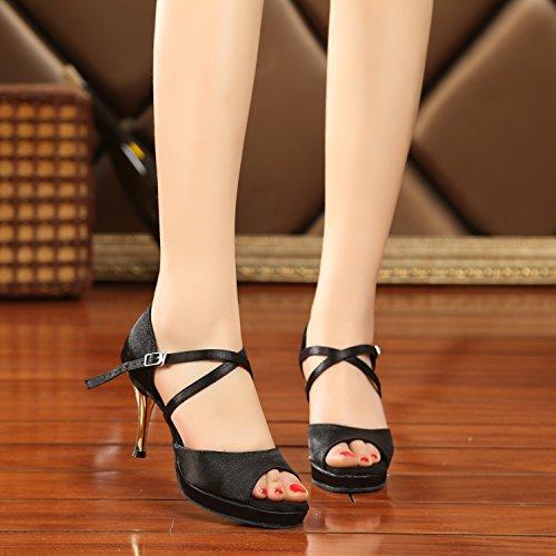 Minitoo - Ballroom donna Black-8cm Heel
