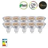 GVOREE MR16 GU5.3 LED Lampen Lampe Natur Tageslicht Weiß AC DC 12 V 5 Watt Ersetzen 50 Watt Halogenlampe GU5.3 LED Spot Glühbirnen 4000 Karat 120 °Abstrahlwinkel Helligkeit Nicht Regelbar 10 Teile / satz