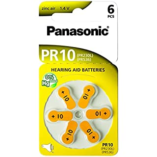 Panasonic 1764 Hörgerätebatterien Zinc-Air PR10