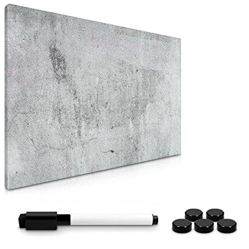 Navaris Magnettafel Magnetpinnwand Memoboard zum Beschriften - 60x40 cm Notiztafel div. Designs - Tafel abwaschbar mit Halterung Magneten Stift (Blech Magnetwand)