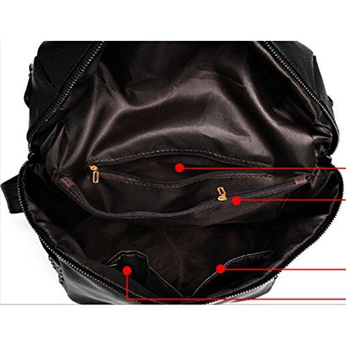 Damen Umhängetaschen Lässig Rucksack Studenten Fashion Bag Redwine