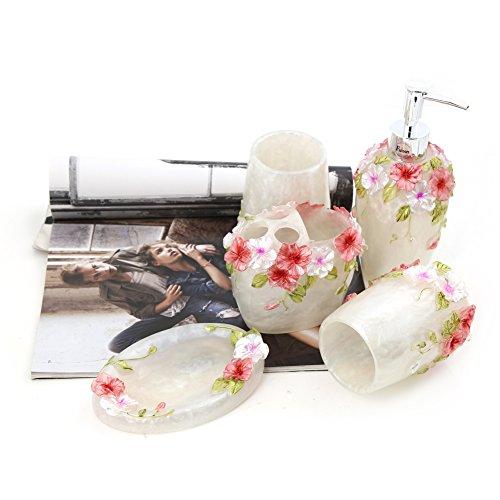 Fuloon romantico, stile country set accessori bagno in 5 dispenser ...