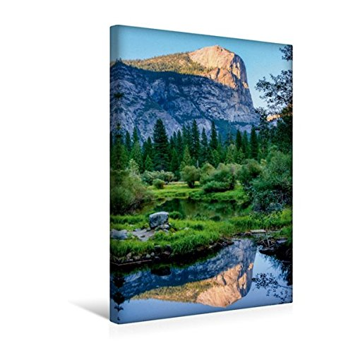 Calvendo Premium Textil-Leinwand 30 cm x 45 cm hoch, Spiegelung im Mirror Lake | Wandbild, Bild auf Keilrahmen, Fertigbild auf echter Leinwand, Leinwanddruck Orte Orte - Mirror Lake Yosemite National Park