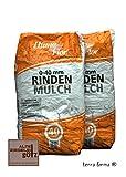 2 x Rindenmulch 0-40 mm a 40 L = 80 Liter