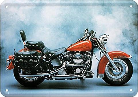 Heritage Softail Motorrad Bike Blechschild Postkarte Blechkarte PKM 198