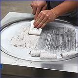 Freie Lieferung an Tür 50 cm Einzel Runde Pfanne Fry Eis Rolle Maschine Rolle Eismaschine Sofortrühren Frittiereismaschine Snack Food Equipment mit Auto Auftauen und stärkere & höhere Räder mit Bremse Vergleich
