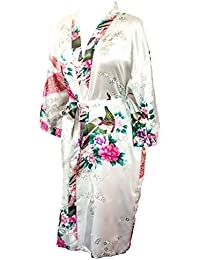 30d5078b86 Kimono Robe Long 16 Colors Premium Peacock Bridesmaid Bridal Shower Womens  Gift