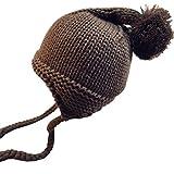 Chapeau Tricoté Longra Bébé Garçon Fille Bonnet de laine Hiver Chaud Un bonnet à pompons Bobs Bébé Casquettes Bébé Chapeau Bébé Ceremonie Laçage Chapeau Bébé 1-4 ans Enfant (café, 1-4 ans)
